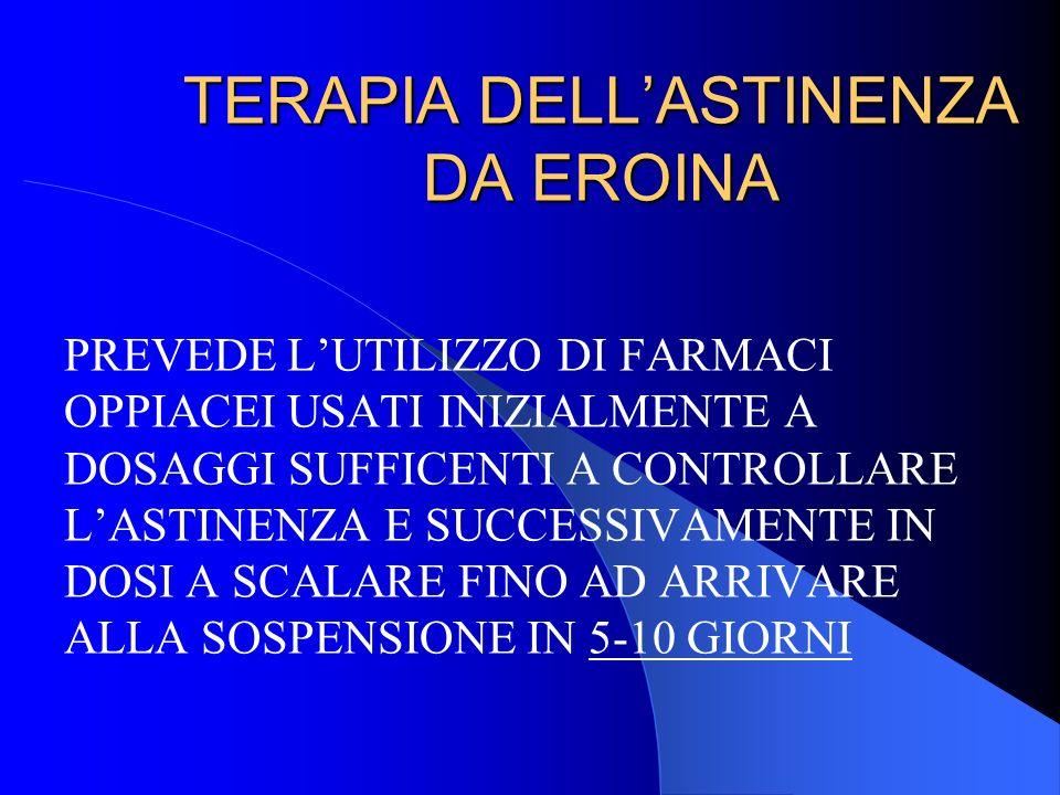TERAPIA DELL'ASTINENZA DA EROINA