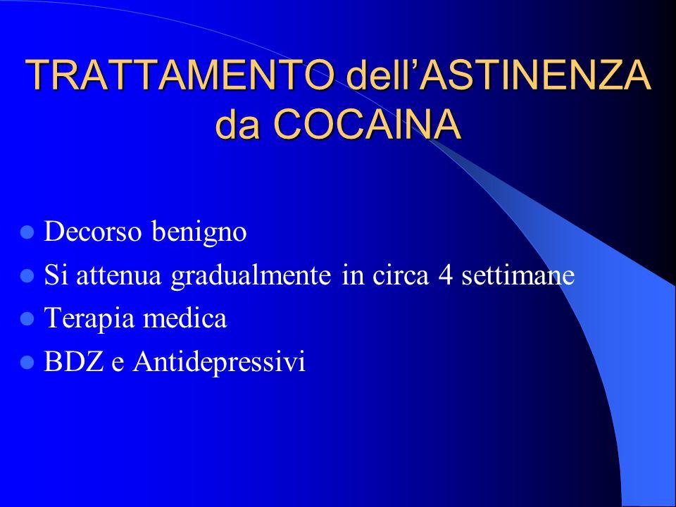 TRATTAMENTO dell'ASTINENZA da COCAINA