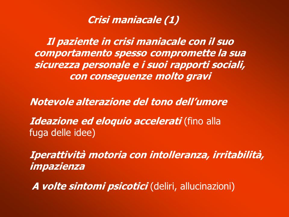 Crisi maniacale (1)