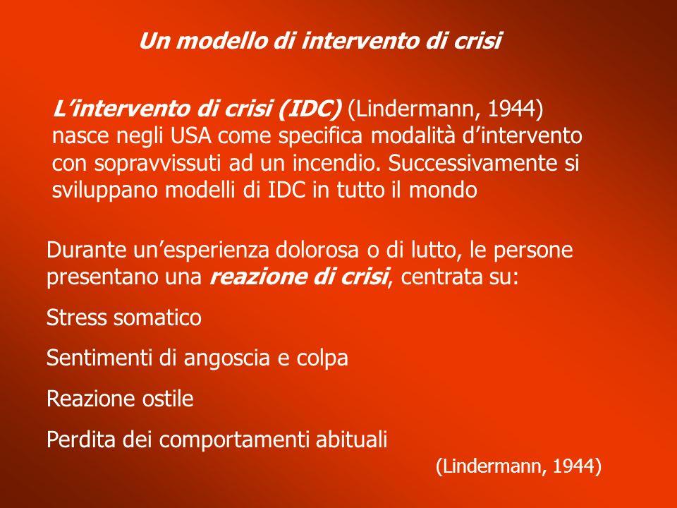 Un modello di intervento di crisi