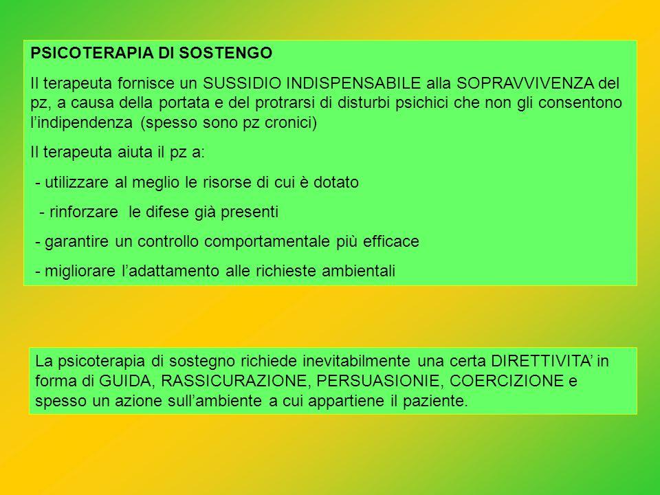 PSICOTERAPIA DI SOSTENGO