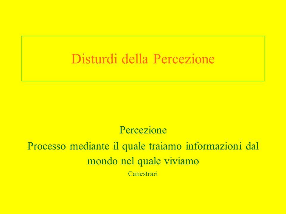 Disturdi della Percezione