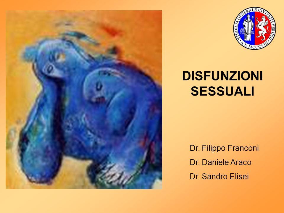 DISFUNZIONI SESSUALI Dr. Filippo Franconi Dr. Daniele Araco