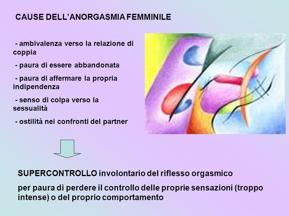 CAUSE DELL'ANORGASMIA FEMMINILE