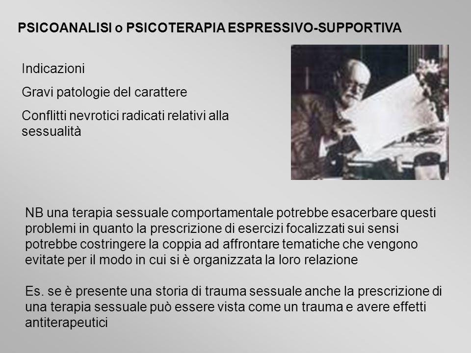 PSICOANALISI o PSICOTERAPIA ESPRESSIVO-SUPPORTIVA