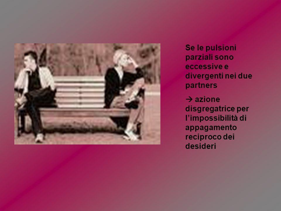 Se le pulsioni parziali sono eccessive e divergenti nei due partners
