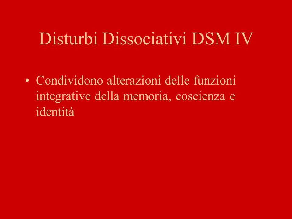 Disturbi Dissociativi DSM IV
