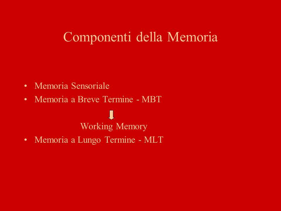 Componenti della Memoria