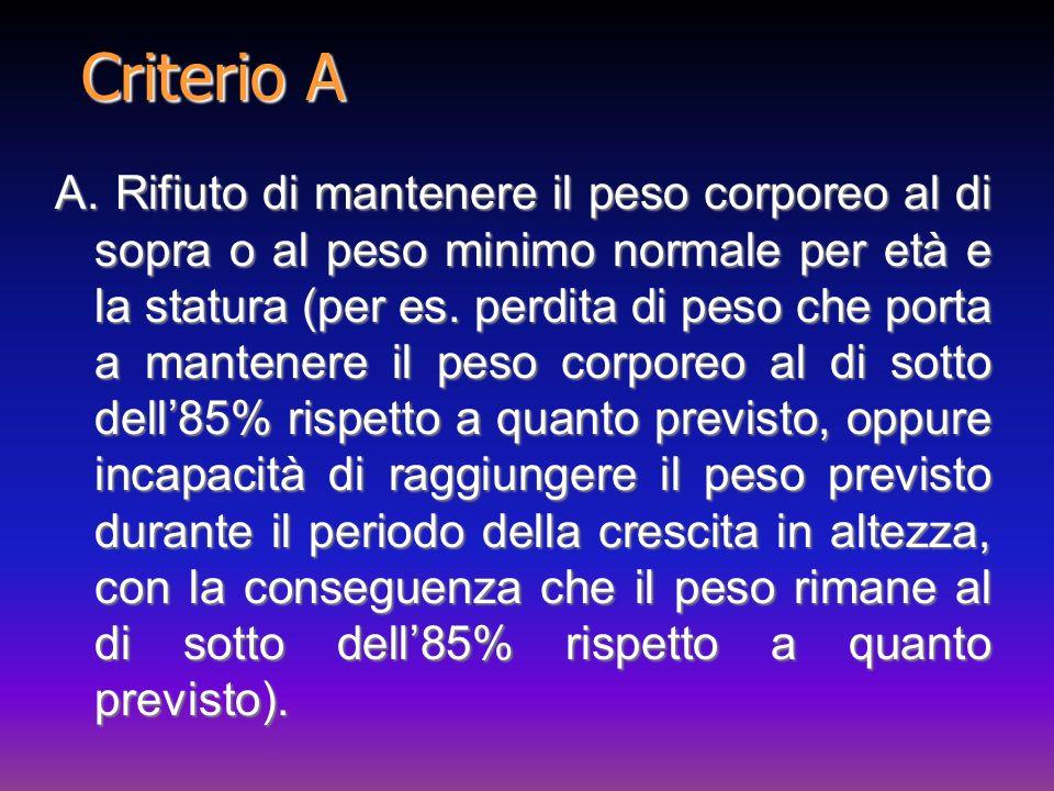 Criterio A