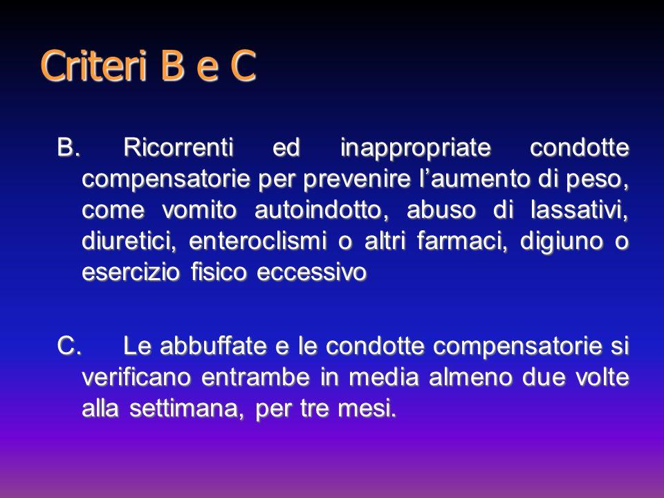 Criteri B e C