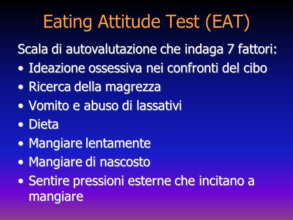Eating Attitude Test (EAT)