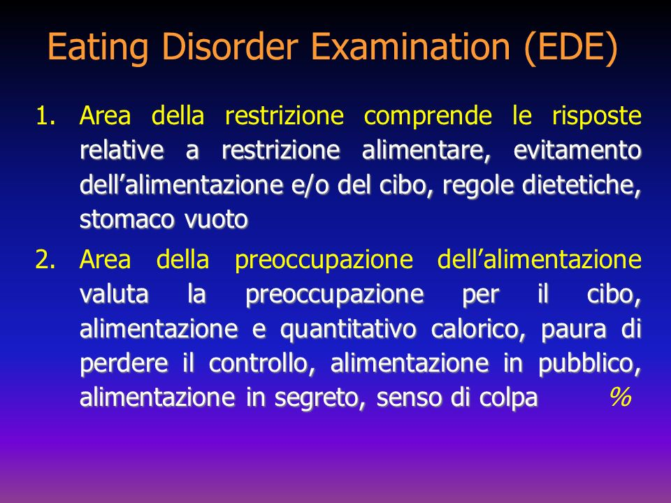 Eating Disorder Examination (EDE)
