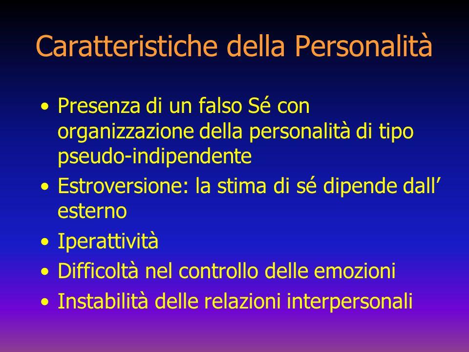 Caratteristiche della Personalità