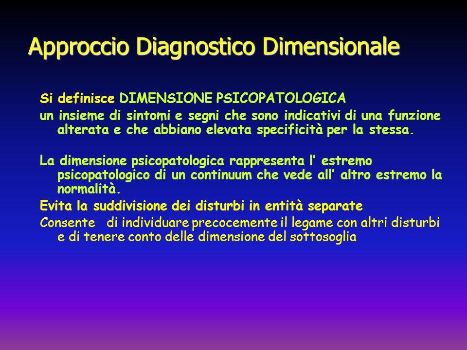 Approccio Diagnostico Dimensionale