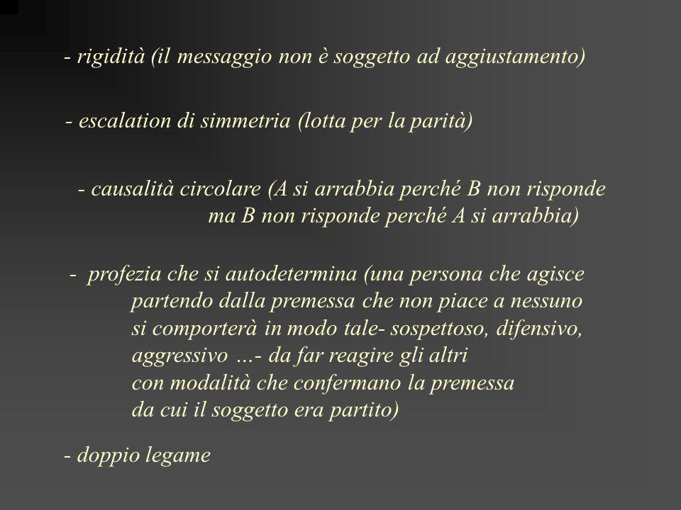 - rigidità (il messaggio non è soggetto ad aggiustamento)