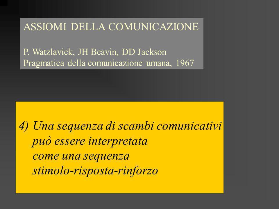 Una sequenza di scambi comunicativi può essere interpretata