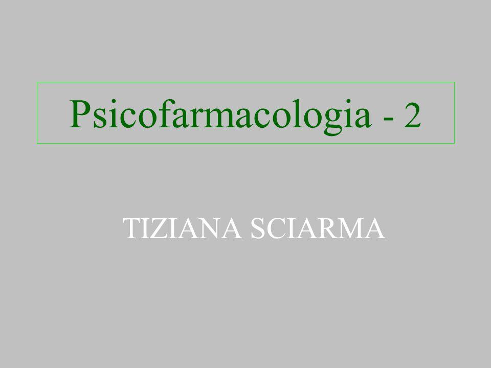 Psicofarmacologia - 2 TIZIANA SCIARMA