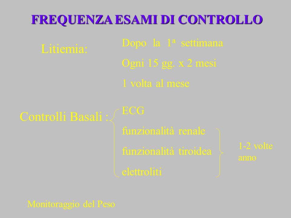 FREQUENZA ESAMI DI CONTROLLO