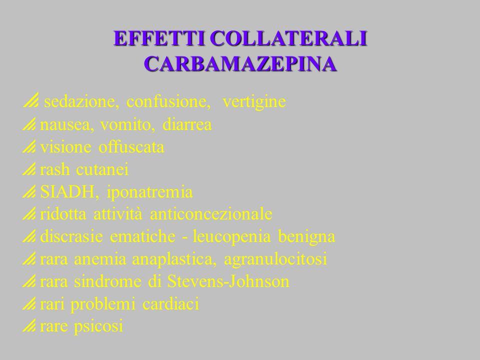 EFFETTI COLLATERALI CARBAMAZEPINA