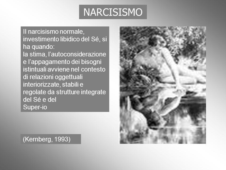 NARCISISMOIl narcisismo normale, investimento libidico del Sé, si ha quando: