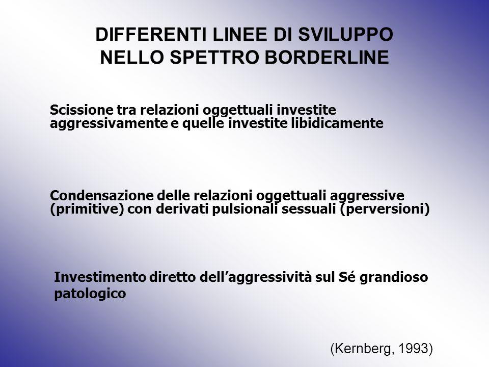 DIFFERENTI LINEE DI SVILUPPO NELLO SPETTRO BORDERLINE