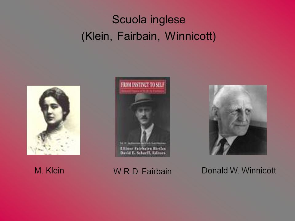 (Klein, Fairbain, Winnicott)