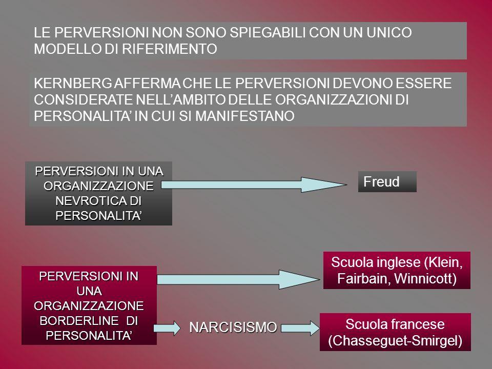 LE PERVERSIONI NON SONO SPIEGABILI CON UN UNICO MODELLO DI RIFERIMENTO