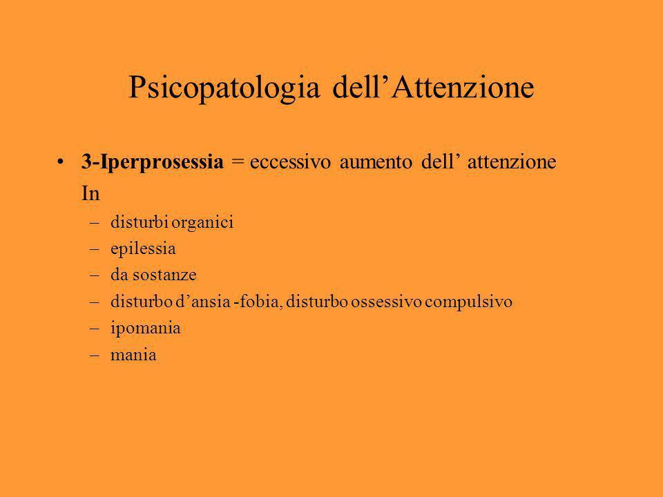 Psicopatologia dell'Attenzione
