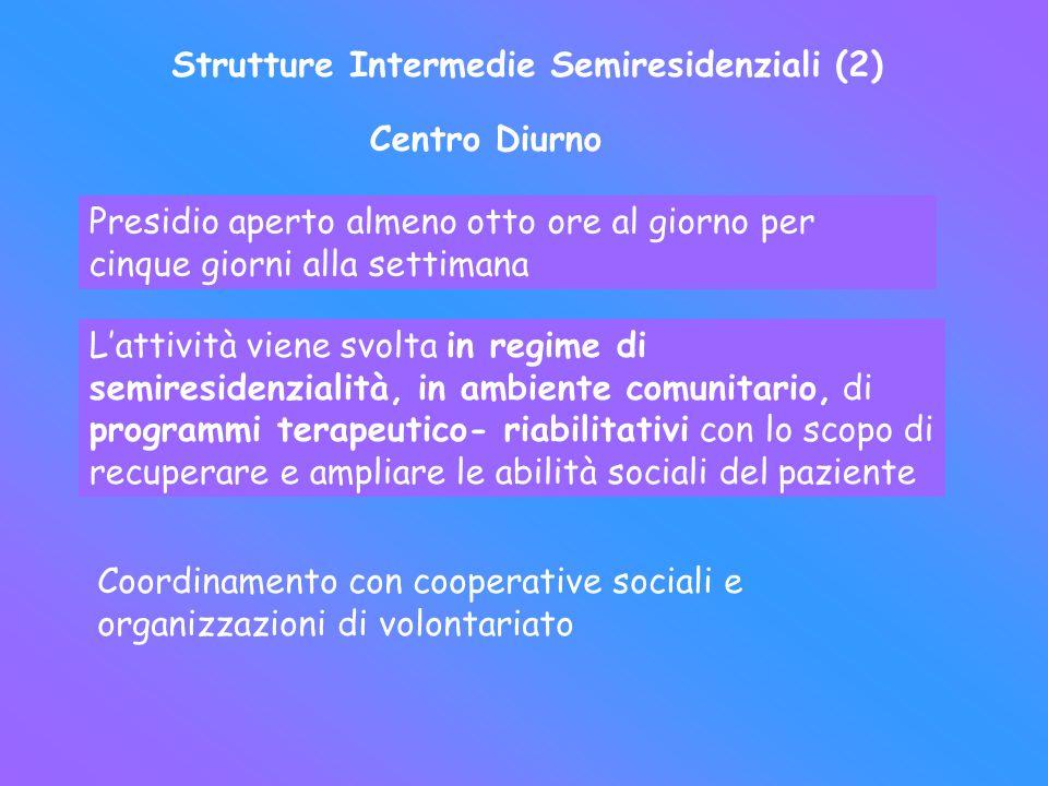 Strutture Intermedie Semiresidenziali (2)