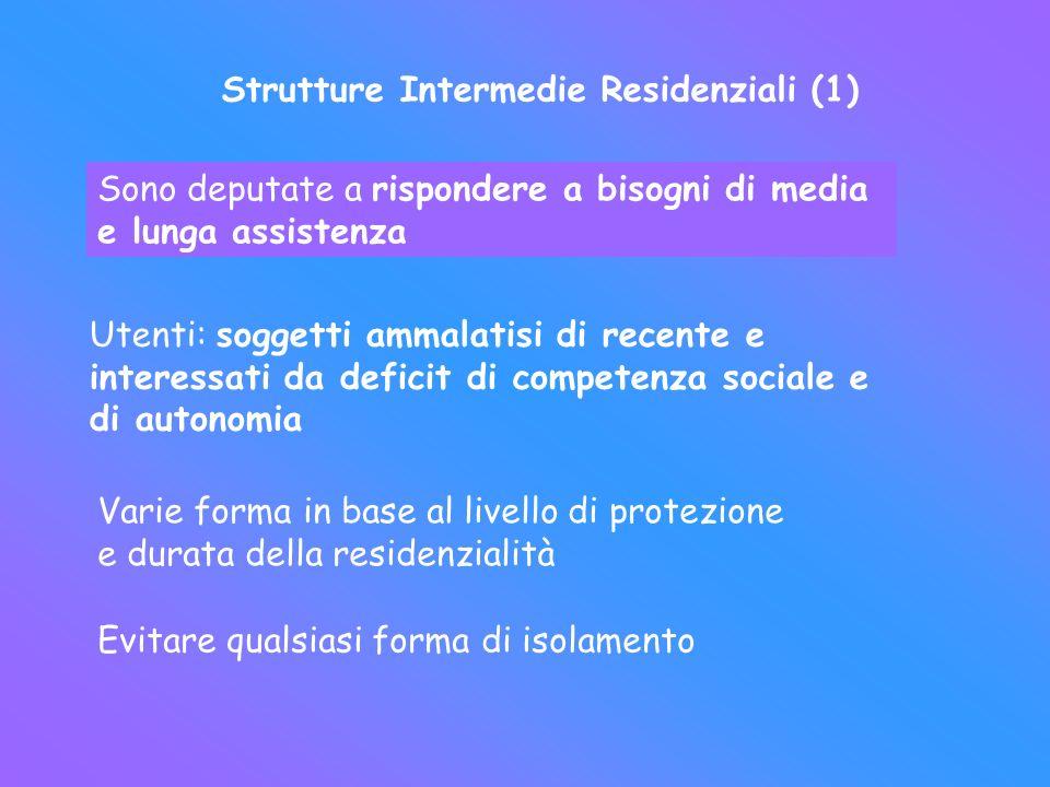 Strutture Intermedie Residenziali (1)