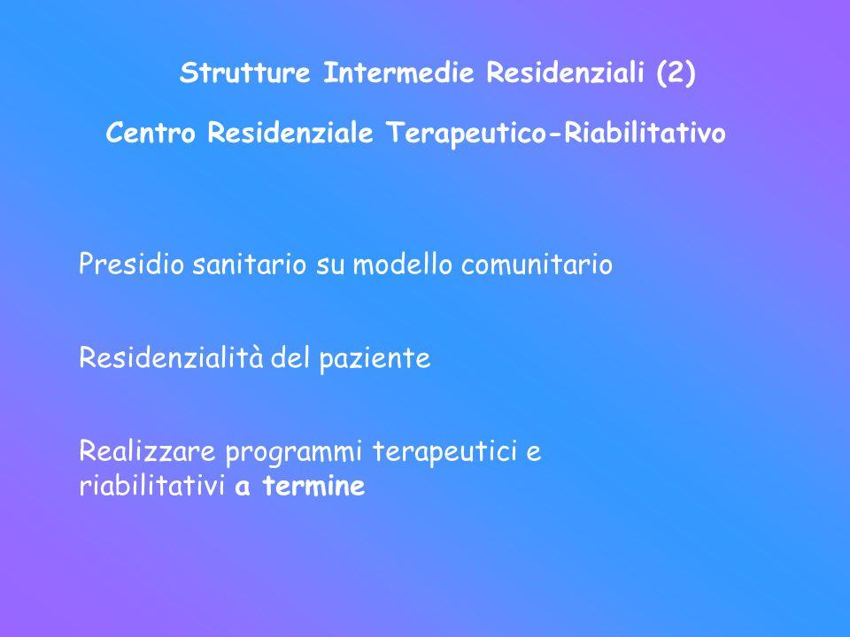 Strutture Intermedie Residenziali (2)