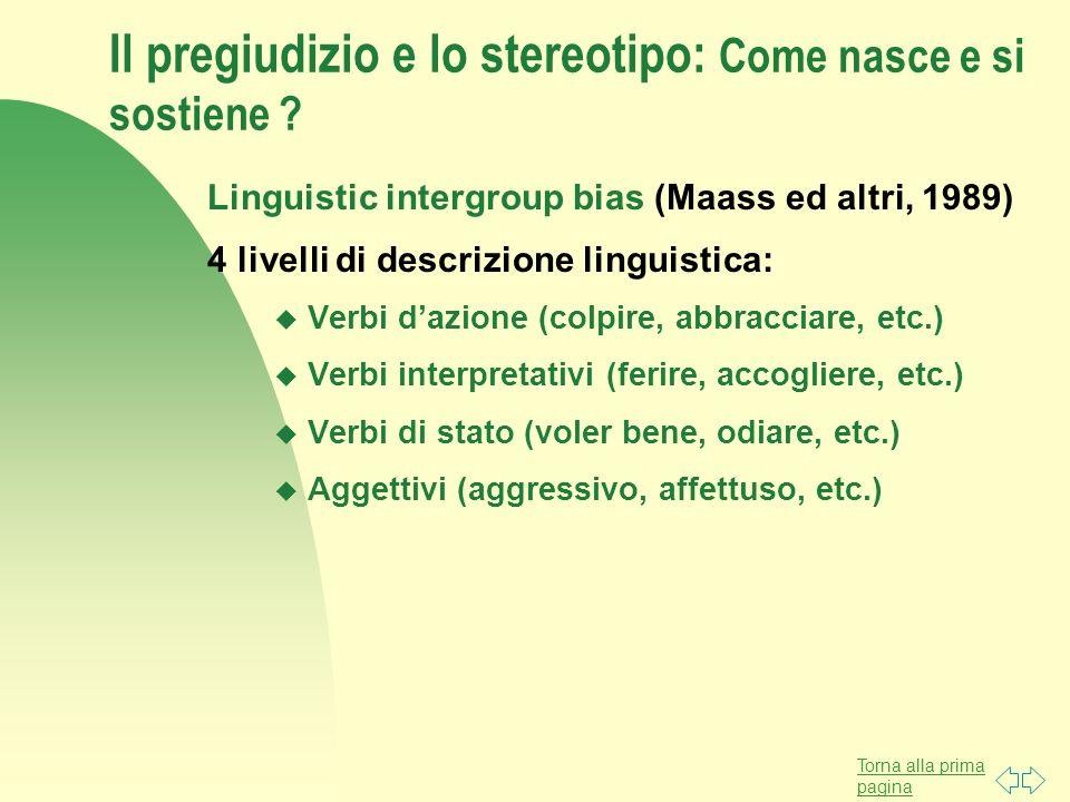 Il pregiudizio e lo stereotipo: Come nasce e si sostiene