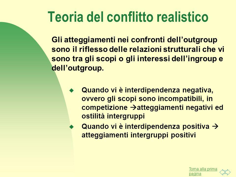 Teoria del conflitto realistico