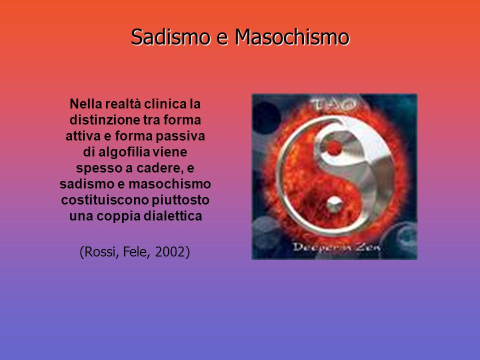 Sadismo e Masochismo
