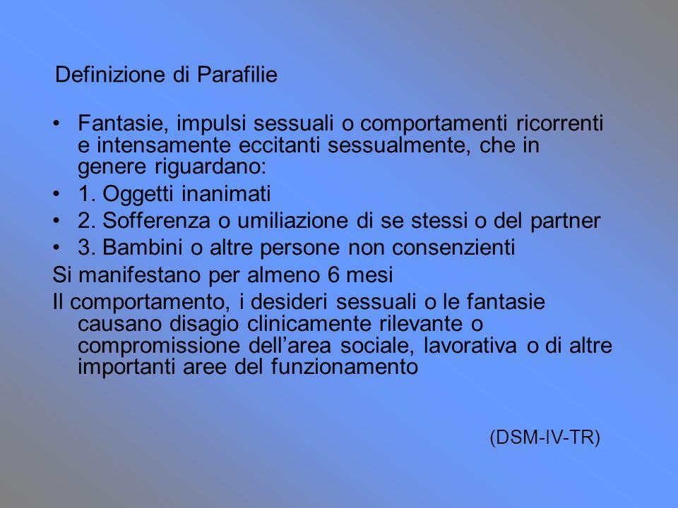 Definizione di Parafilie