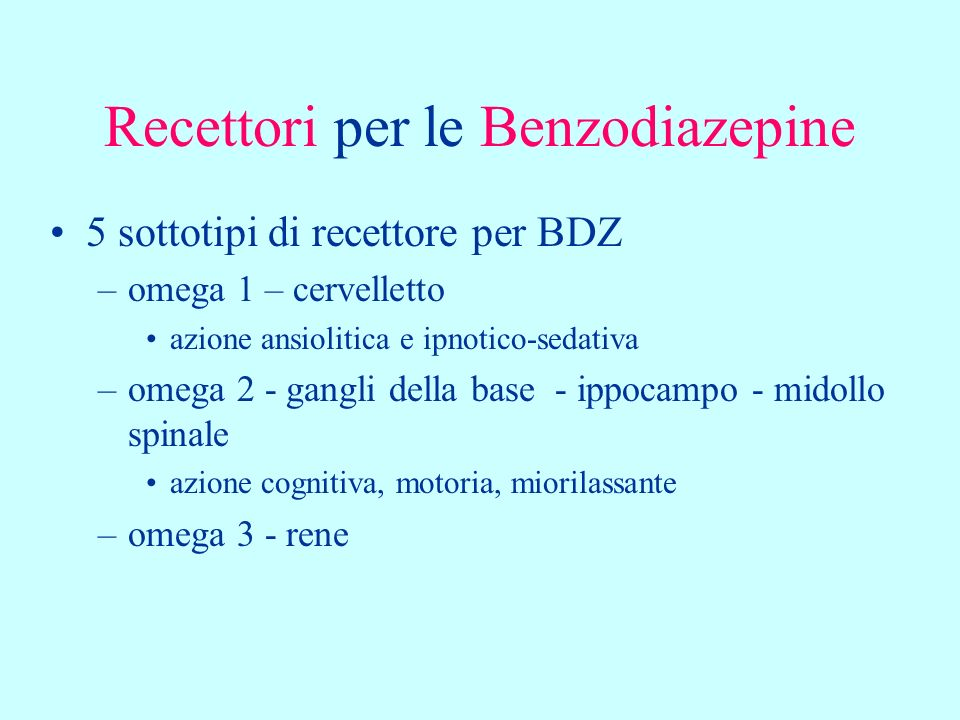 Recettori per le Benzodiazepine