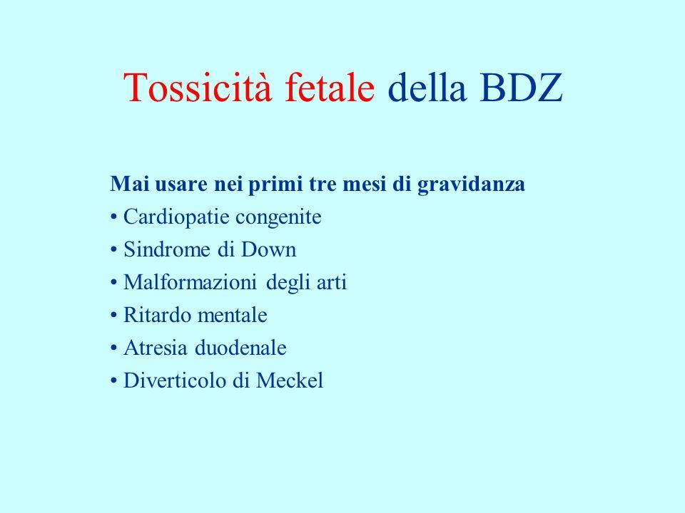 Tossicità fetale della BDZ