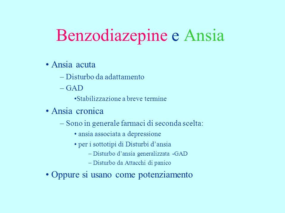 Benzodiazepine e Ansia