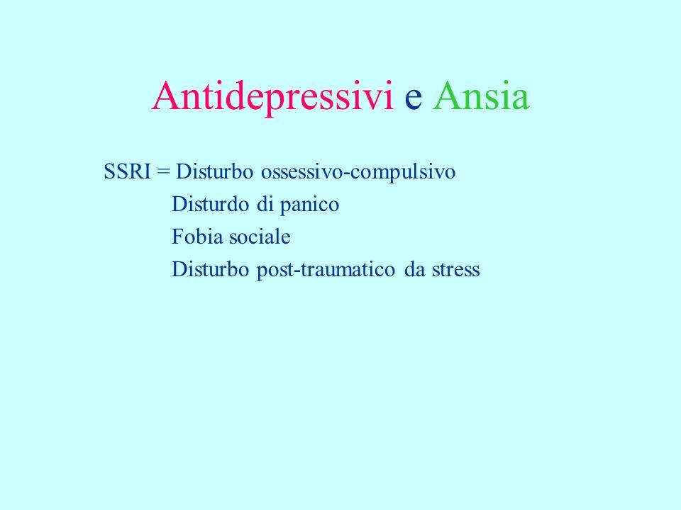 Antidepressivi e Ansia