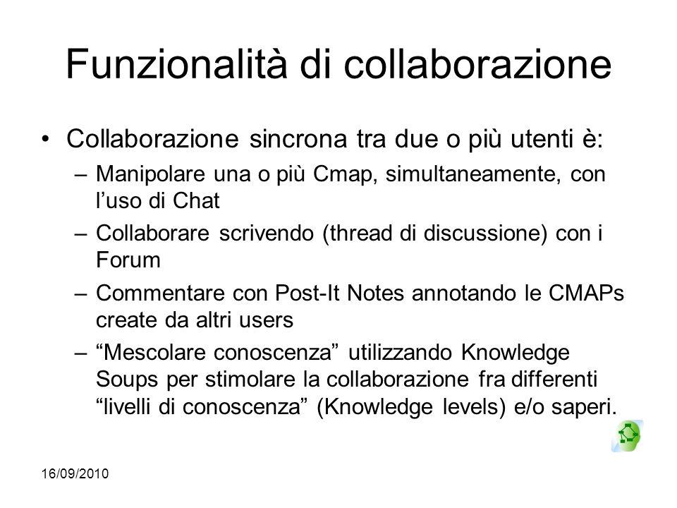 Funzionalità di collaborazione