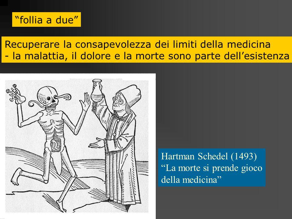 follia a due Recuperare la consapevolezza dei limiti della medicina. - la malattia, il dolore e la morte sono parte dell'esistenza.
