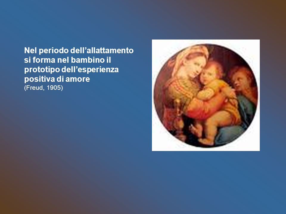Nel periodo dell'allattamento si forma nel bambino il prototipo dell'esperienza positiva di amore