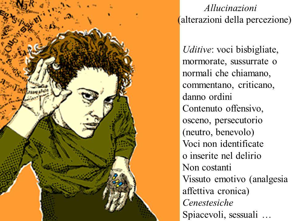 Allucinazioni (alterazioni della percezione)