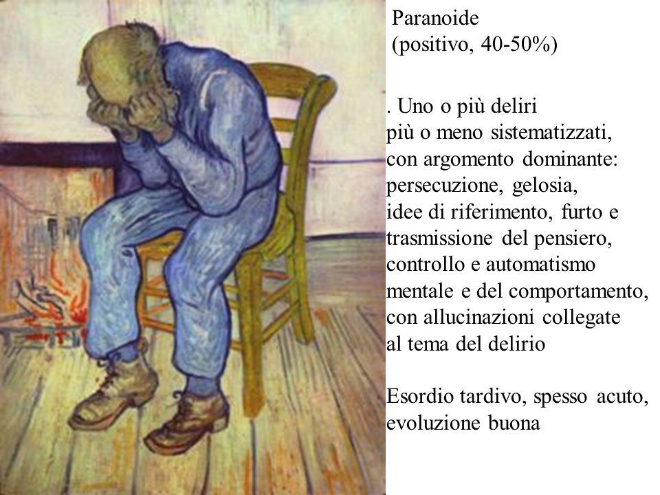 Paranoide (positivo, 40-50%)