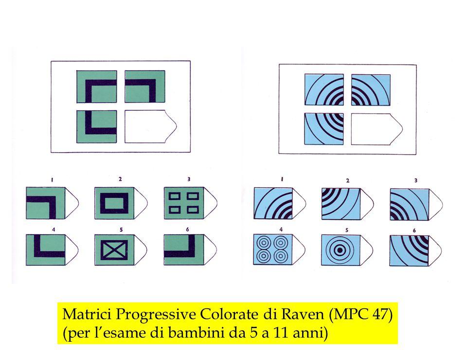 Matrici Progressive Colorate di Raven (MPC 47)