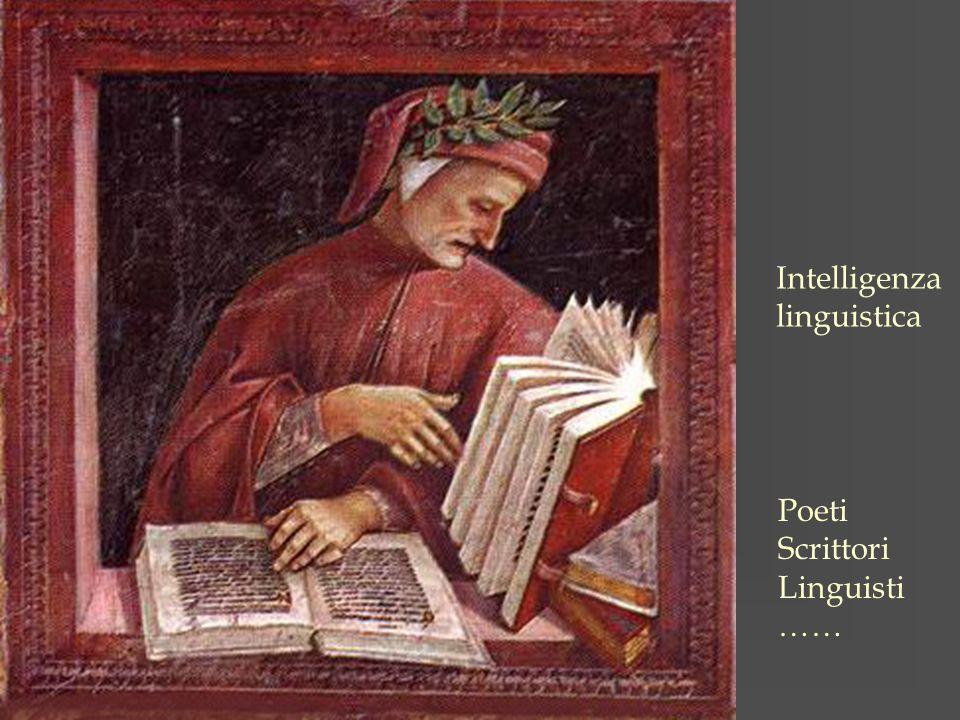 Intelligenza linguistica Poeti Scrittori Linguisti ……