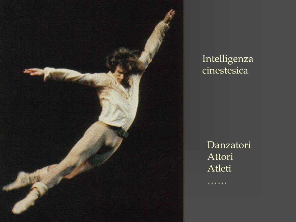 Intelligenza cinestesica Danzatori Attori Atleti ……