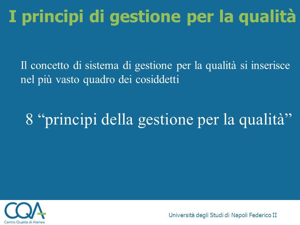 I principi di gestione per la qualità