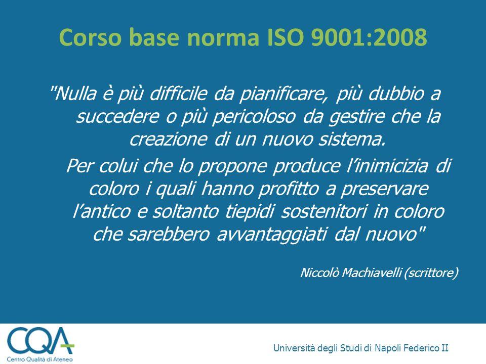 Corso base norma ISO 9001:2008