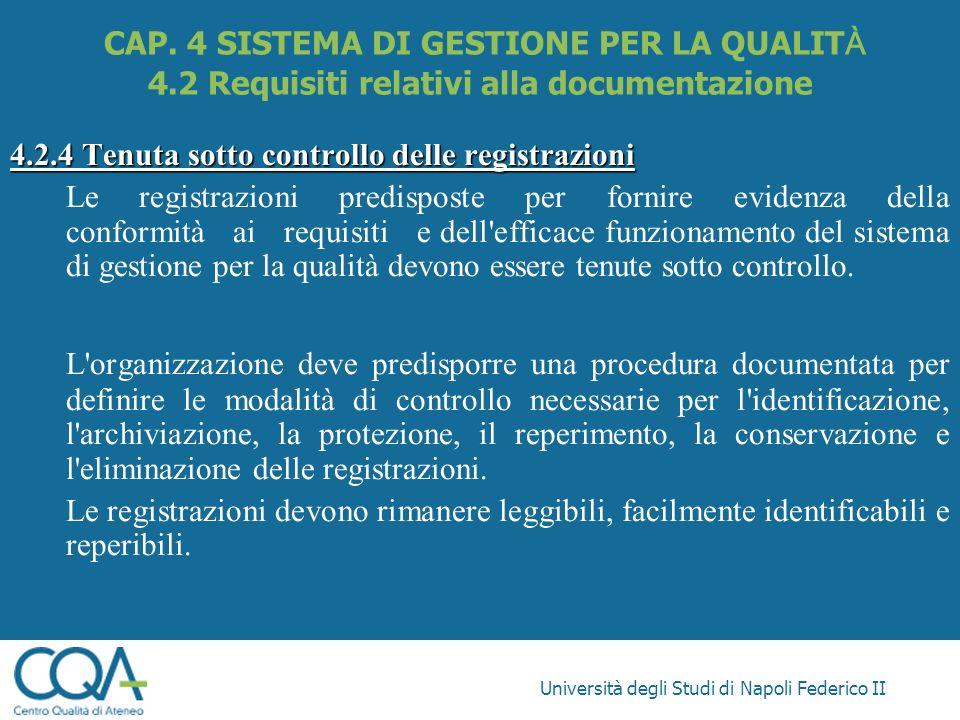 CAP. 4 SISTEMA DI GESTIONE PER LA QUALITÀ 4